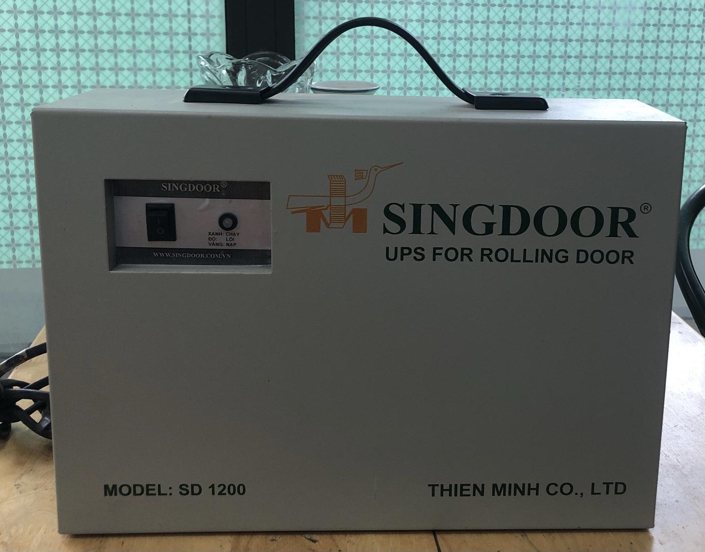 Lưu điện cửa cuốn Singdoor